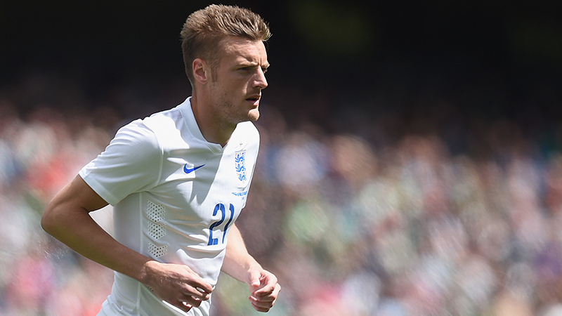 England's Jamie Vardy on his debut against Republic of Ireland