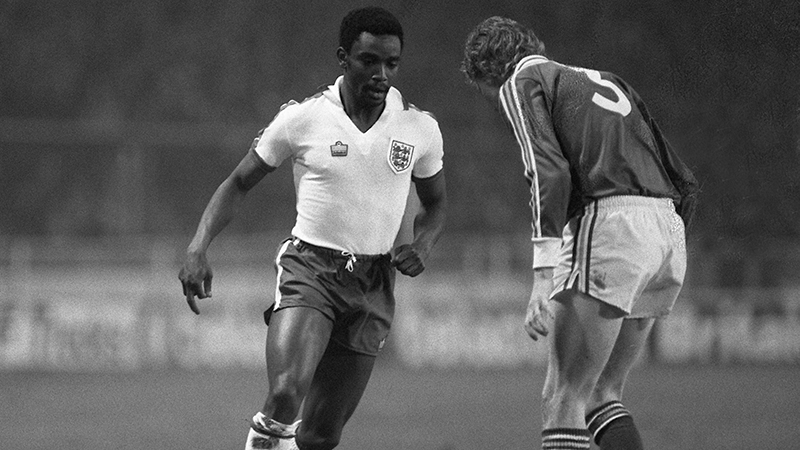 England's Laurie Cunningham in action against the Republic of Ireland in 1980
