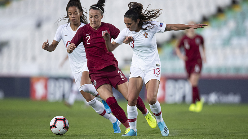 Lucy Bronze in action against Portugal