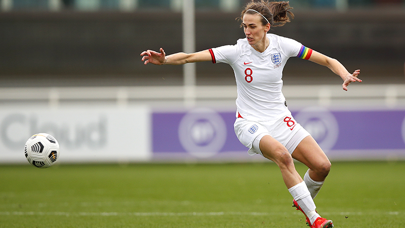 England's Jill Scott on her 150th appearance for the Lionesses