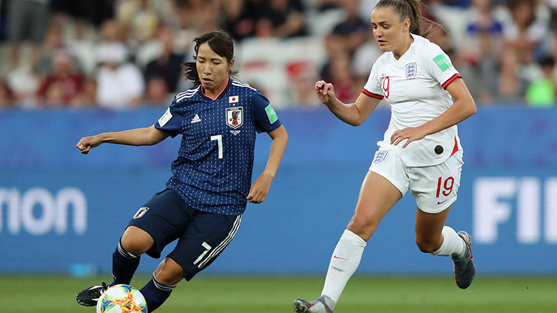 Georgia Stanway in action against Japan