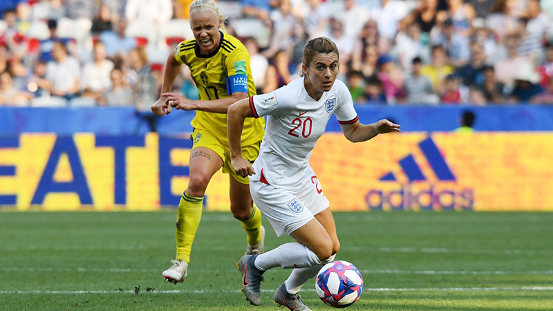 Karen Carney in action against Sweden