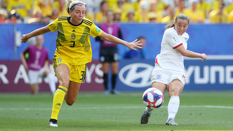 Fran Kirby scores against Sweden