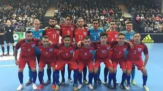 Expand. England s Futsal squad prior to their game with Germany in 2016 ad70b7906c425