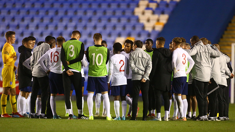 England U20s Squad Named For Italy And Czech Republic Games