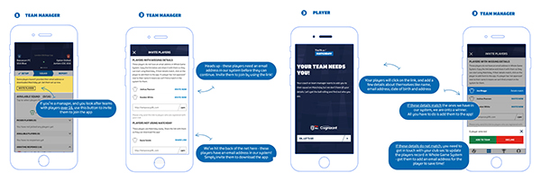 Adult team manager - Matchday app