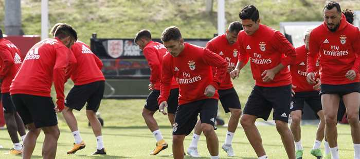 97c00e73ed Portuguese giants Benfica train at St. George s Park