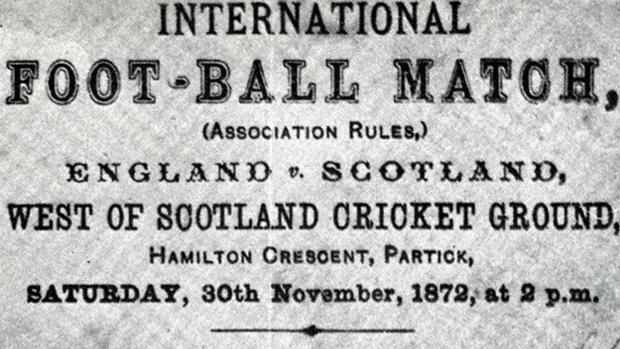 England v Scotland, 1872