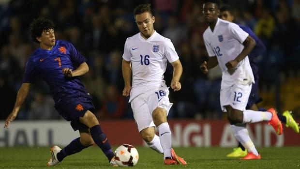 86176c5c5 ... stadium suspension  Adam Armstrong in action for England U18s