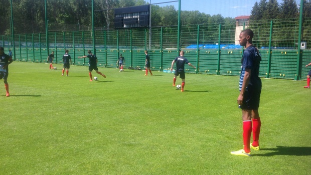Tosin Adarabioyo and the squad trained at Dynamo Moscow