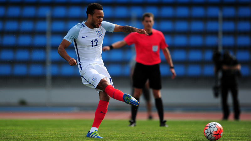 Lewis Baker slots home a penalty against Japan in the final Group B game