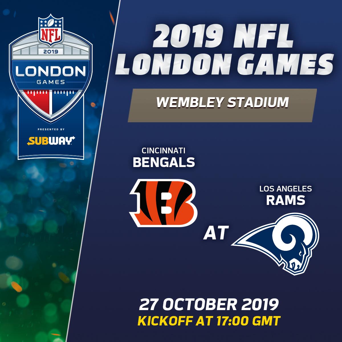 London Nfl Games 2020.Cincinnati Bengals V Los Angeles Rams