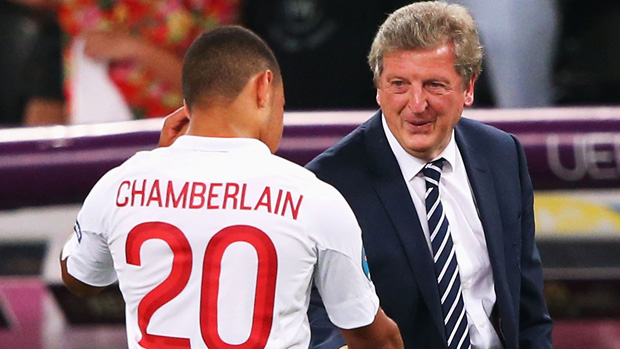 Roy Hodgson and Alex Oxlade Chamberlain