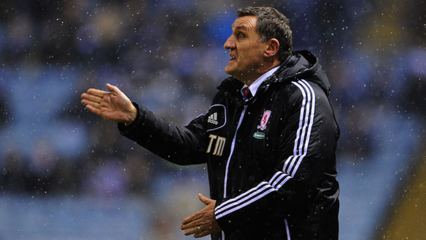 Middlesbrough manager, Tony Mowbray