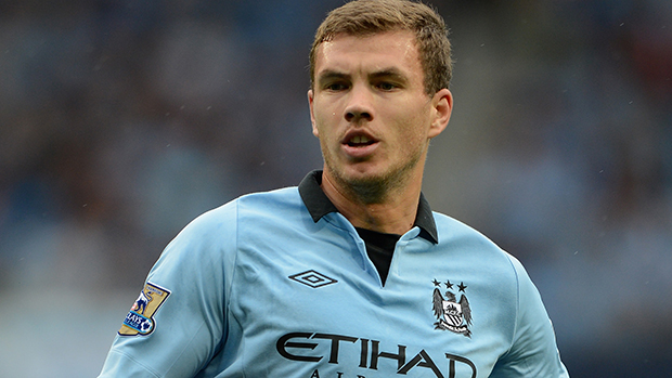 Manchester City striker Edin Dzeko