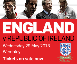 Click here to buy tickets - England v Republic of Ireland