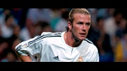 Beckham in action for his new side, Real Madrid
