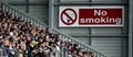 There is currently no legislation prohibiting smoking in football stadia.