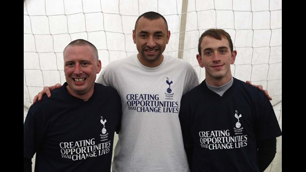 Heurelho Gomes with the England CP squad.