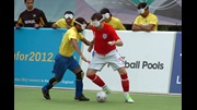 England and Brazil in Blind World Championship action.