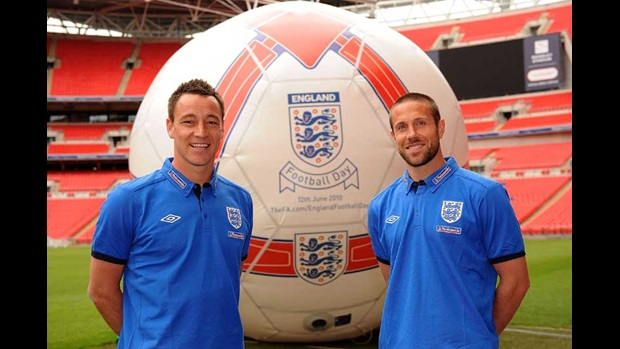 John Terry and Matthew Upson launch England Football Day.
