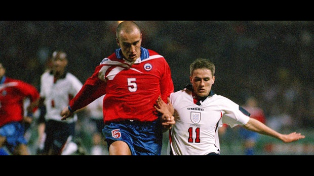 Michael Owen in action against Chile in 1998.