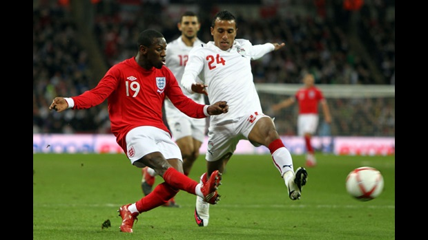 Shaun Wright-Phillips in action against Egypt.