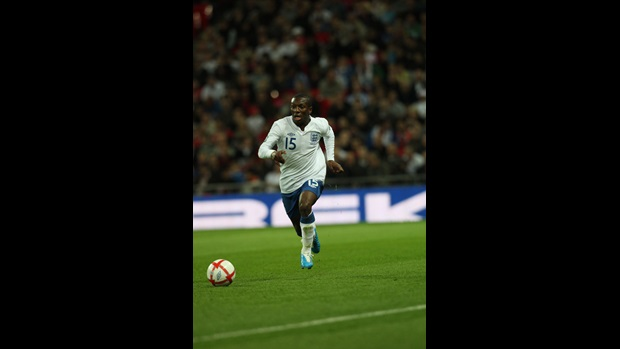 Shaun Wright-Phillips in action for England.