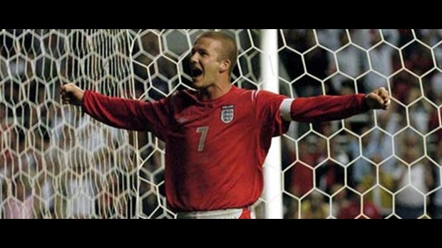 The last time England met Ukraine, David Beckham opened the scoring after 27 minutes.