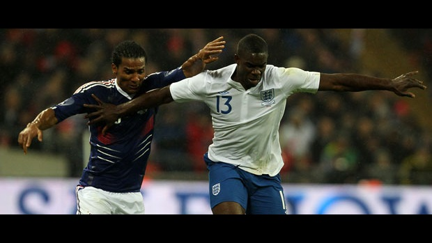 Micah Richards in action against France.