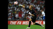Joe Hart in action against Bulgaria.
