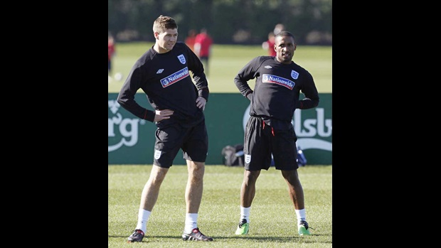 Steven Gerrard and Jermain Defoe