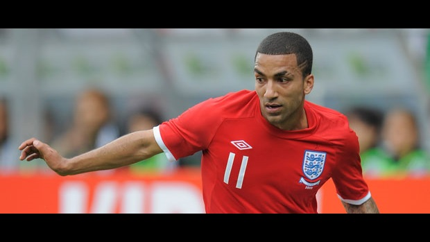Aaron Lennon in action against Japan.