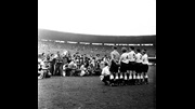 England line-up before their first World Cup game against Chile in 1950.