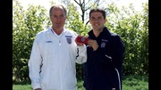 Michael Owen receives the England armband