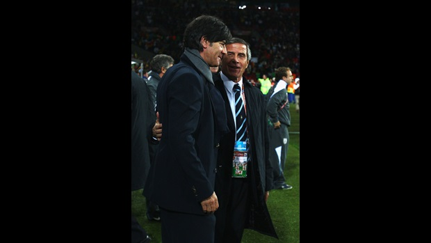 Joachim Loew and Oscar Tabarez
