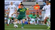 Robert Koren scores for Slovenia against Algeria