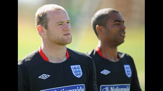Wayne Rooney and Ashley Cole