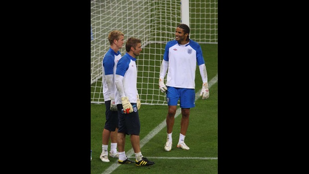 Robert Green, Joe Hart and David James.