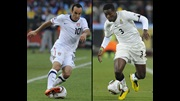 Landon Donovan and Asamoah Gyan