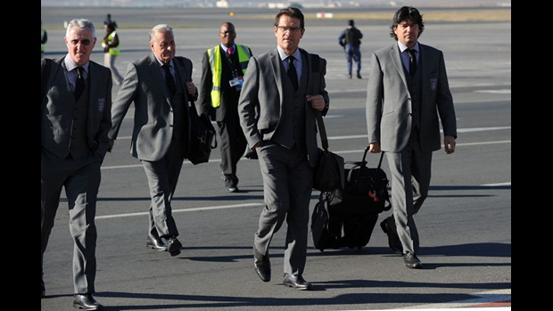 Fabio Capello arrives in South Africa