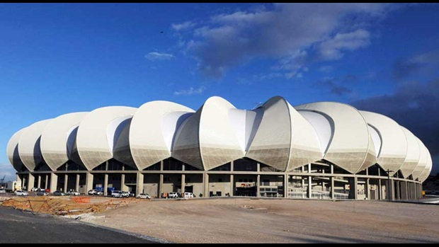 The Nelson Mandela Bay Stadium, Port Elizabeth.
