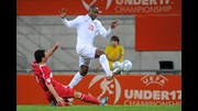 Saido Berahino in action against Turkey.