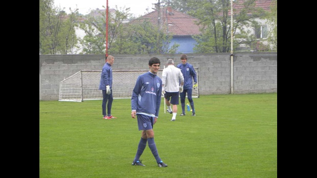 Adam Jackson trains in Serbia.