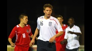 Connor Wickham in action for the England U16 team, against Wales in 2008.