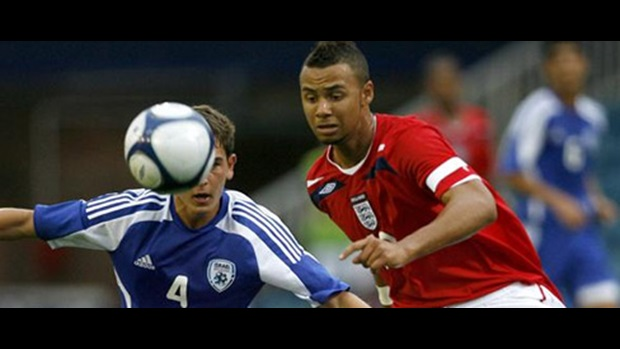 The England and Tottenham midfielder (right) in action against Israel in August 2008.