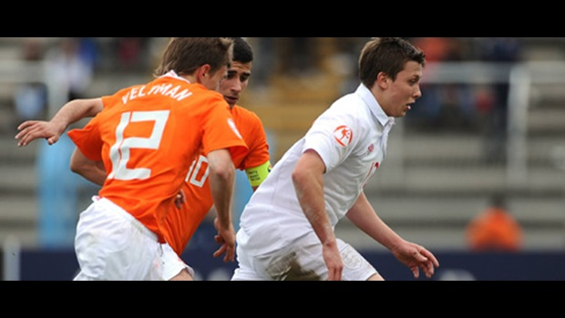 Luke Freeman in action against the Netherlands in England's opening Group B match.