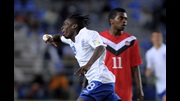 Blair Turgott celebrates his goal against Mexico