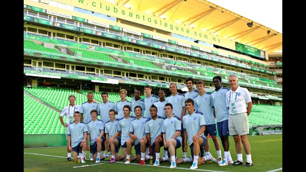 England U17s in Torreon.