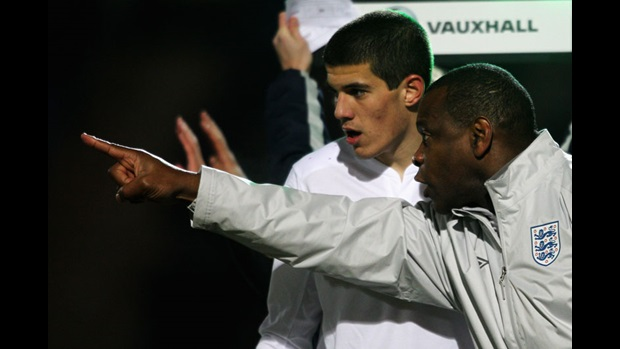 Conor Coady and Noel Blake.